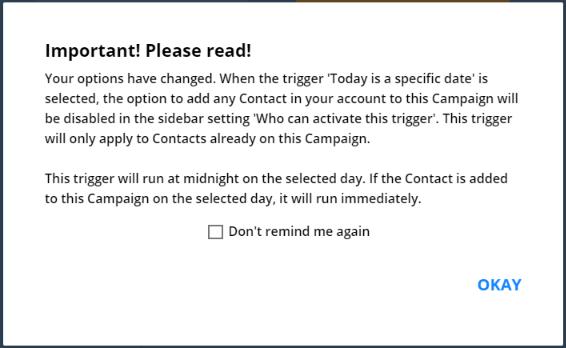 Ontraport Date Trigger Warning